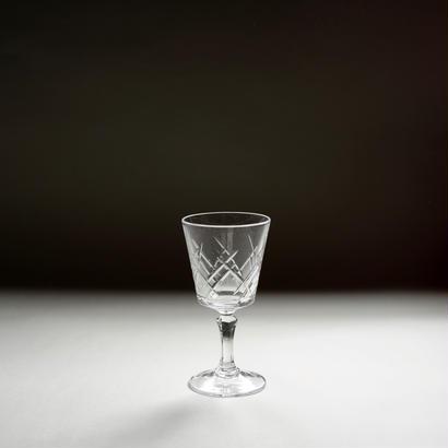 プレスドグラスのリキュールグラス
