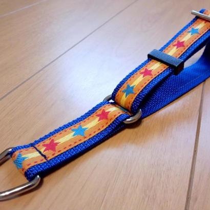 リミテッドチョークカラー(青×オレンジ星) Lサイズ