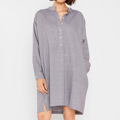 MASKA〈マスカ〉/ シャツワンピース【CHRISTINE】JACQUARD OVERSIZED SHIRT DRESS