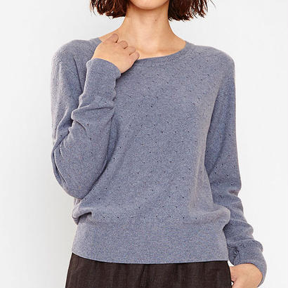 MASKA〈マスカ〉/ ニットセーター【LUCA】  Eyelet sweater