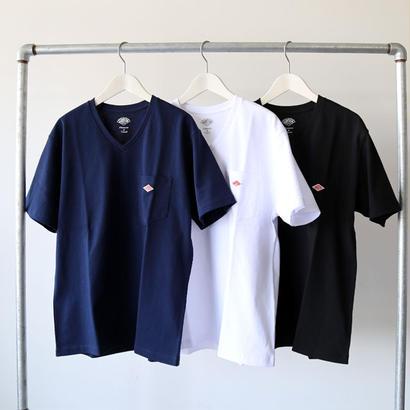DANTON ダントン / Vネック ポケットTシャツ (メンズ) JD-9088