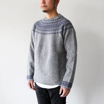 NOR'EASTERLY (ノアイースターリー) / L/S WIDE NECK 2TONE NORDIC 3170/7