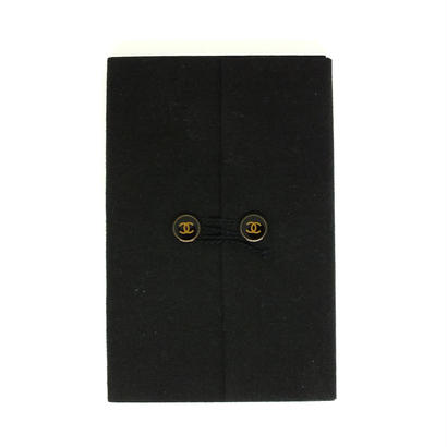 "CHANEL  notepad  ""coco button"" felt fabric"