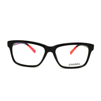 "CHANEL eye wear ""coco mark""  black×red  専用ケース袋等付き"