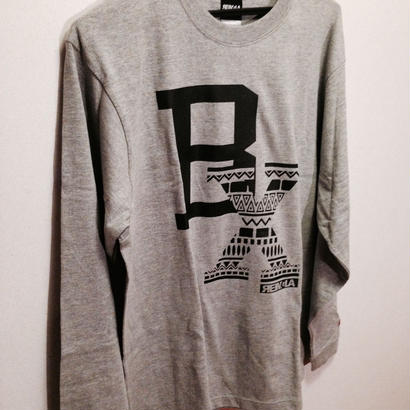 BLAX Tribal Long T-shirts(Gray)