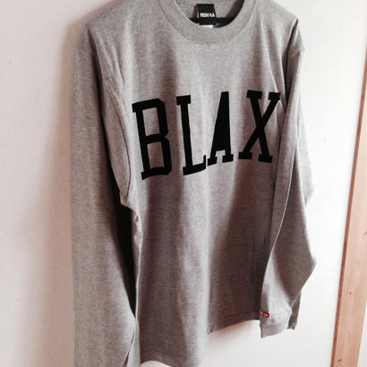 BLAX LOGO Long T-shirts(Gray)