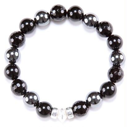 Marble Stone & Silver Charm Bracelet