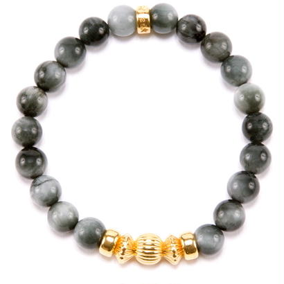 EAGLE EYE & GOLD BALL BRACELET -8mm-