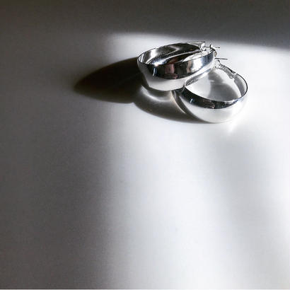 big hoop pierce- silver925