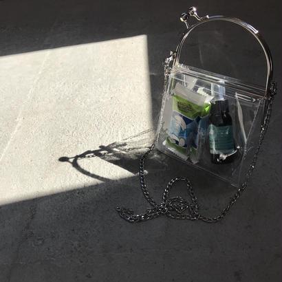 clear bag-がま口
