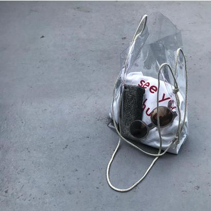clear bag-jute shouider