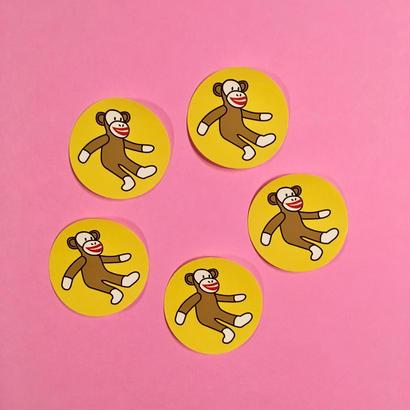 モンキー 猿 サル  シール ステッカー 5枚セット MONKEY STICKER