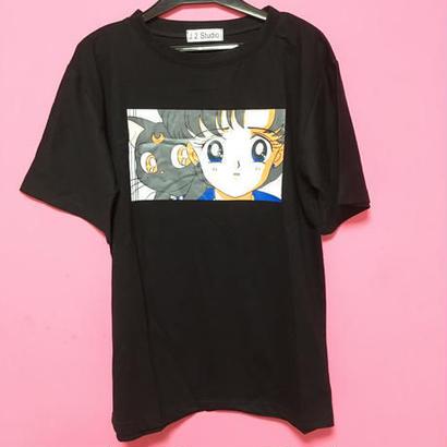 [再入荷] セーラーマーキュリー Tシャツ 新品 黒