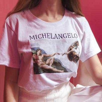 ミケランジェロ 絵画 Tシャツ