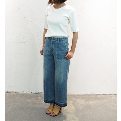"#501🔻AOS  ""Cropped wide pants"""