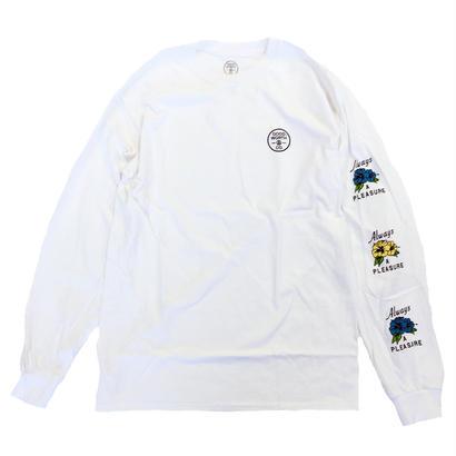 GOOD WORTH   ALWAYS A PLEASURE L/S TEE WHITE グッドワース 長袖Tシャツ