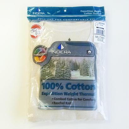 INDERA Raschel Thermals L/S 100%Cotton 9.5oz 890LS Natural インデラ サーマル
