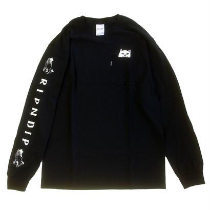 RIPNDIP / LORD NERMAL POCKET TEE L/S TEE BLACK リップンディップ 長袖Tシャツ