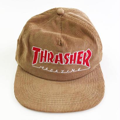 THRASHER / MAGAZINE LOGO CORDUROY CAP GOLD スラッシャー キャップ