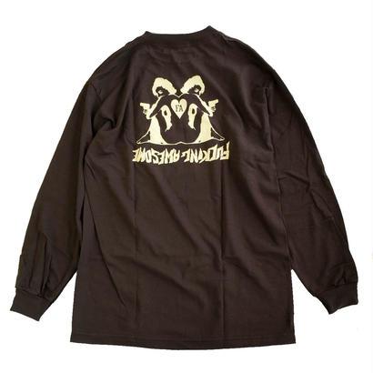 FUCKING AWESOME / Hearts L/S TEE Chocolate 長袖Tシャツ FA JASON DILL