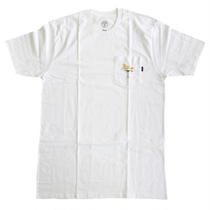 GOOD WORTH x Chloe Kovska / MARTINI GIRL POCKET TEE WHITE グッドワース Tシャツ