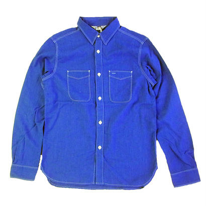FIVE BROTHER COLOR CHAMBRAY WORK Shirts ROYAL ファイブブラザー カラーシャンブレーシャツ