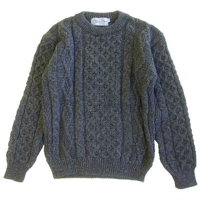 KERRY WOOLLEN MILLS Aran Crewneck Sweater Nimbus  ケリーウーレンミルズ アランニット