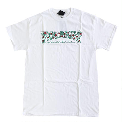 THRASHER / SKATE MAG ROSE TEE WHITE スラッシャー Tシャツ