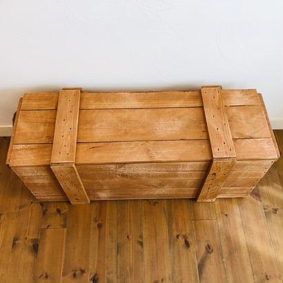 梱包木箱 塗装品 Lサイズ 1箱 / 梱包箱 木箱 ボックス ウッドボックス 輸送箱 弾薬ケース 弾薬箱 ダイナマイト箱 爆薬箱
