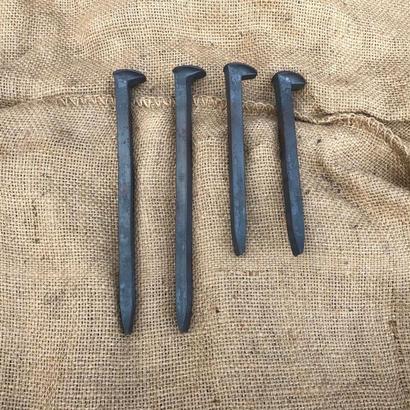 新品 犬釘  180mm  4本   250mm 4本  / 釘 鉄杭 杭 鉄道 レール ペグ アイアン 鉄