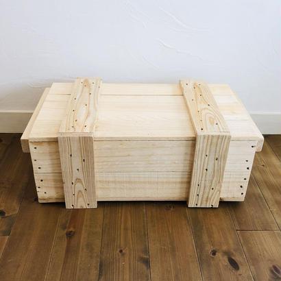 梱包木箱 Sサイズ 1箱 / 梱包箱 木箱 ボックス ウッドボックス 輸送箱 弾薬ケース 弾薬箱 ダイナマイト箱 爆薬箱