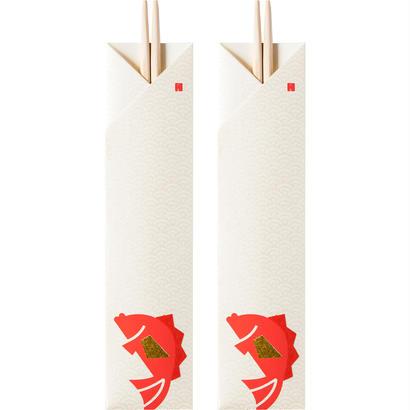 縁起物/祝い箸 めで鯛