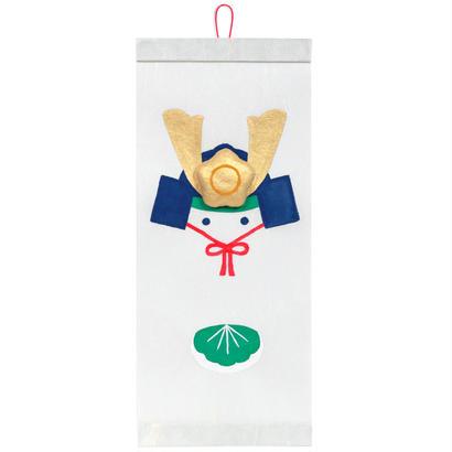 和紙タペストリー 兜に柏餅