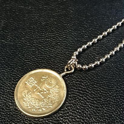 50銭 古銭ペンダント