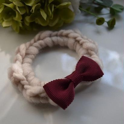 knitシュシュ*アイボリー