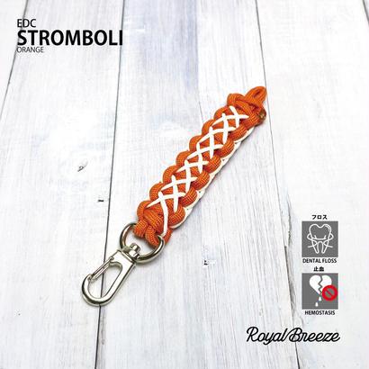 Royal Breeze | EDC ストロンボーリ オレンジ | 蓄光パラコード キーホルダー