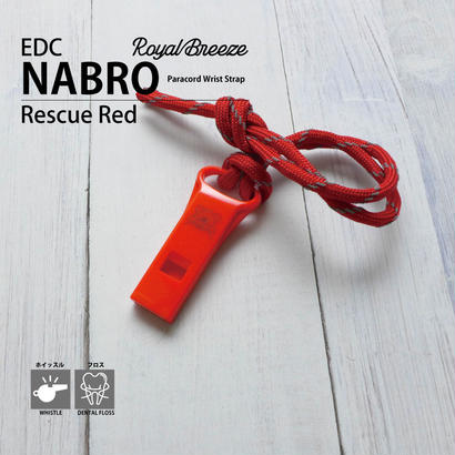 Royal Breeze | EDC Nabro | Whistle Rescue Red with Paracord Lanyard