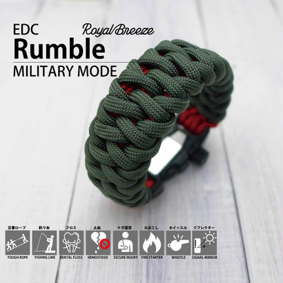 EDC ランブル パラコード ブレスレット |ミリタリーモード