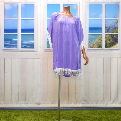 LANI LAUラニラウ Dress Rendaドレスレンダ パープル/ホワイトレース LA016