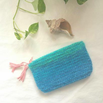 Mohair Pouch~Surf Blue.