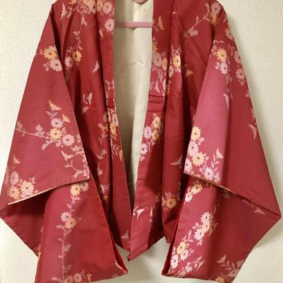 着物リメイク羽織(金魚草)