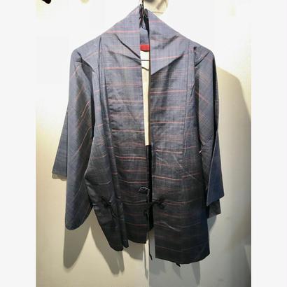 アンティーク羽織(青縞模様)