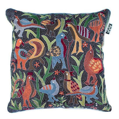 TIKAU_Birds Cushion Cover Navy