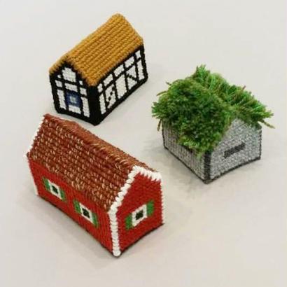 Svensk Hemslöjd_Svenska Hus (スウェーデンのお家・手芸キット)3種類あります