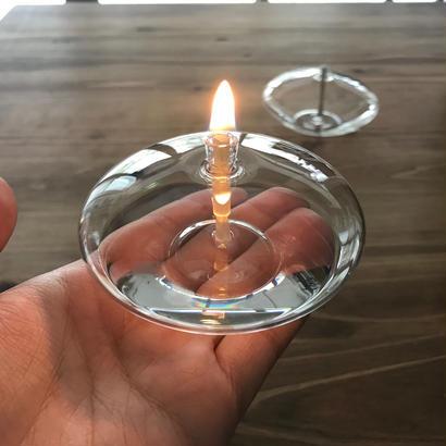 FIRELIGHT GLASS  OIL LAMP  Omni#3