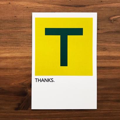 "WRITE&DRAW.  ORIGINAL GRAPHIC CARD ""THANKS"""
