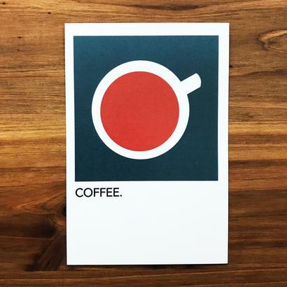 "WRITE&DRAW.  ORIGINAL GRAPHIC CARD ""COFFEE"""