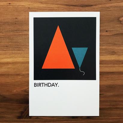 "WRITE&DRAW.  ORIGINAL GRAPHIC CARD ""BIRTHDAY"""