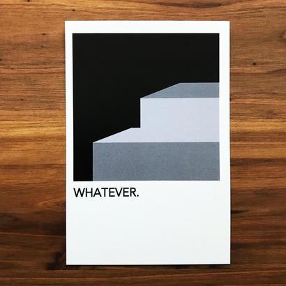 """WRITE&DRAW.  ORIGINAL GRAPHIC CARD """"WHATEVER"""""""