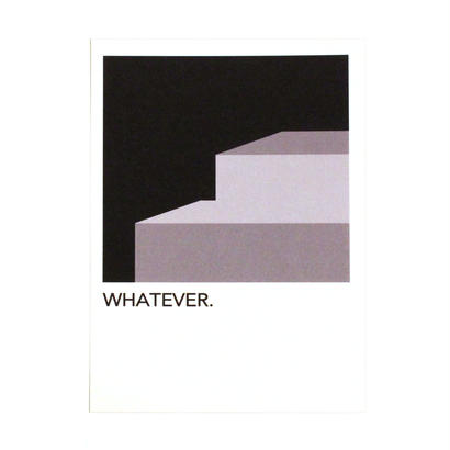 "WRITE&DRAW.  ORIGINAL GRAPHIC CARD ""WHATEVER"""